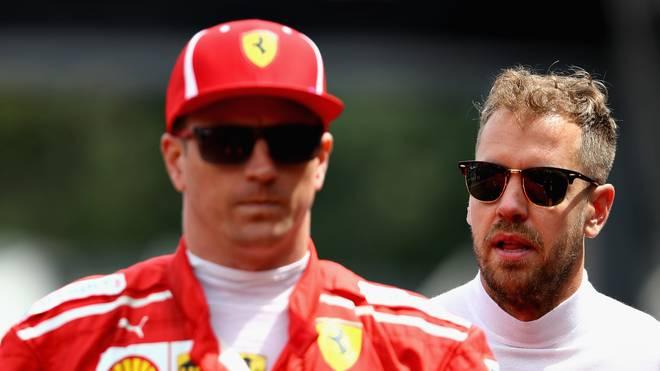 Kimi Raikkonen (l.) und Sebastian Vettel sind mit ihrer Ausgangsposition beim Ungarn-GP unzufrieden