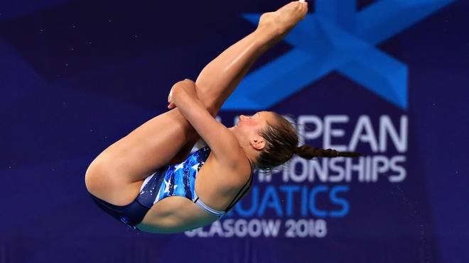 Die deutsche Wasserspringerin Tina Punzel hat vom 3-m-Brett Bronze gewonnen