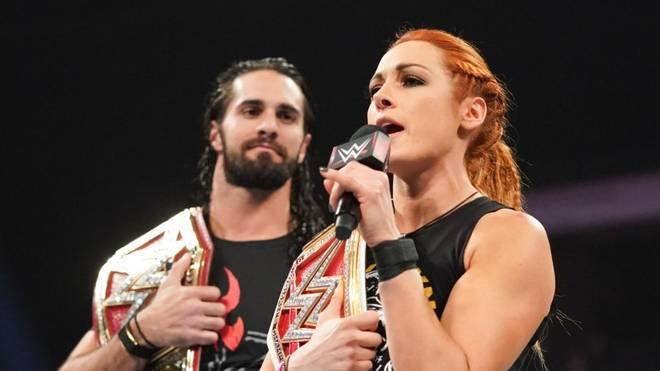 Seth Rollins und Becky Lynch tragen bei WWE RAW die wichtigsten Titel