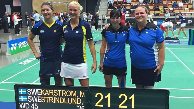Tanja Eberl und ihre Partnerin Brigitte Menacher unterlagen im Achtelfinale zwei Schwedinnen