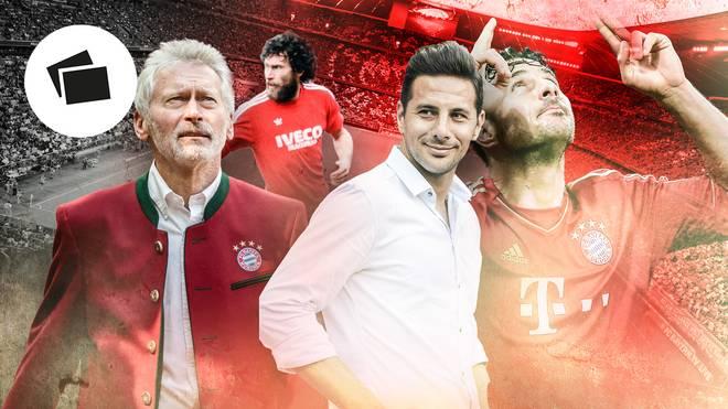 Viele Profis des FC Bayern wie Paul Breitner (l.) gingen nach ihrer aktiven Karriere zurück zum Klub - ist das auch der Weg von Claudio Pizarro?