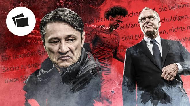 Niko Kovac und Karl-Heinz Rummenigge vom FC Bayern im Werben um Leroy Sané