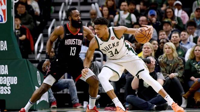 Giannis Antetokounmpo und James Harden führen das All-NBA-First-Team an