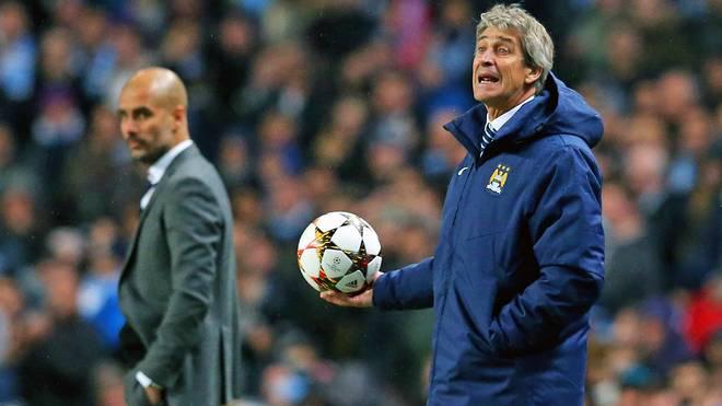 Manuel Pellegrini (r.) und Pep Guardiola