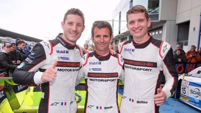 Kevin Estre, Romain Dumas und Mathieu Jaminet trotzten dem Wetter