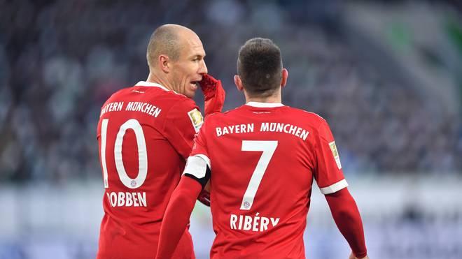 Arjen Robben (l.) und Franck Ribery (r.) starten für den FC Bayern gegen den BVB
