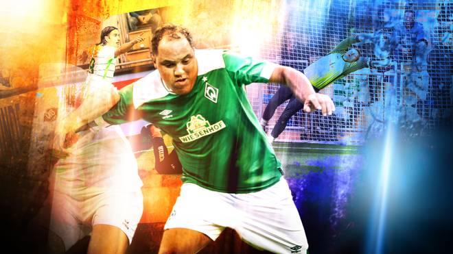 Ailton spielt beim Budenzauber Emsland für Werder Bremen