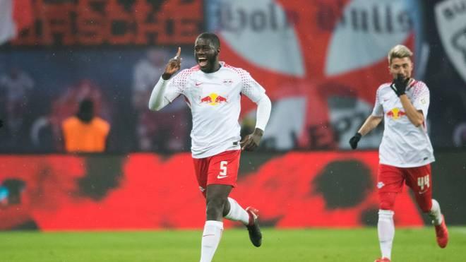 Dayot Upamecano schoss sein erstes Bundesliga-Tor für Leipzig - für RB war es das 100.