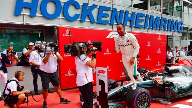 Lewis Hamilton gewann 2018 den GP von Deutschland auf dem Hockenheimring