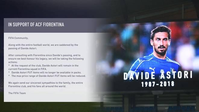 Davide Astori bleibt weiterhin in FIFA 18 spielbar - allerdings mit Einschränkungen