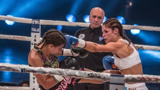 Marie Lang (r.) gegen Andreia Inacio