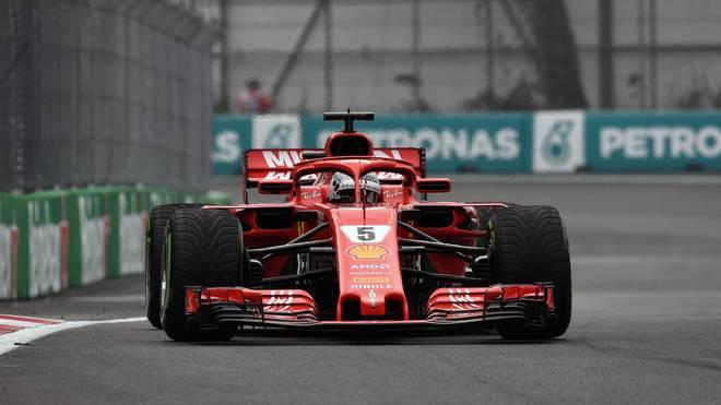 Sebastian Vettel ist beim dritten Training nicht über Rang drei hinausgekommen