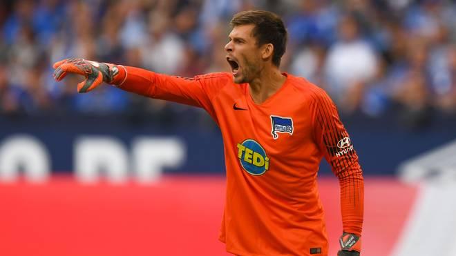 Hertha-Keeper Rune Jarstein blieb in den ersten beiden Partien ohne Gegentor