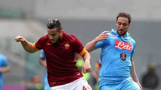 Der AS Rom um Kostantinos Manolas (l.) hat das Duell mit dem SSC Neapel mit 1:0 gewonnen
