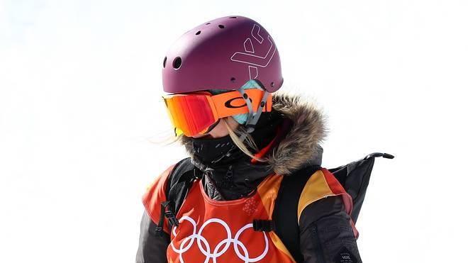 Silvia Mittermüller fuhr zwar noch zur Piste, musste ihren Start dann aber absagen