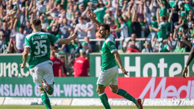 Claudio Pizarro traf für Bremen zum Sieg