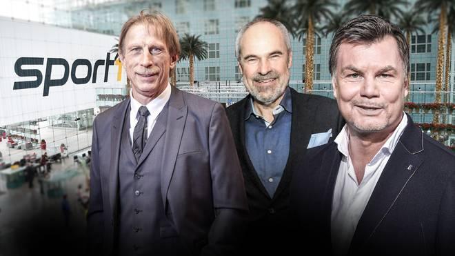 Am Sonntag im Doppelpass bei Moderator Thomas Helmer zu Gast: Christoph Daum (l.) und Wolfgang Holzhäuser (M.)