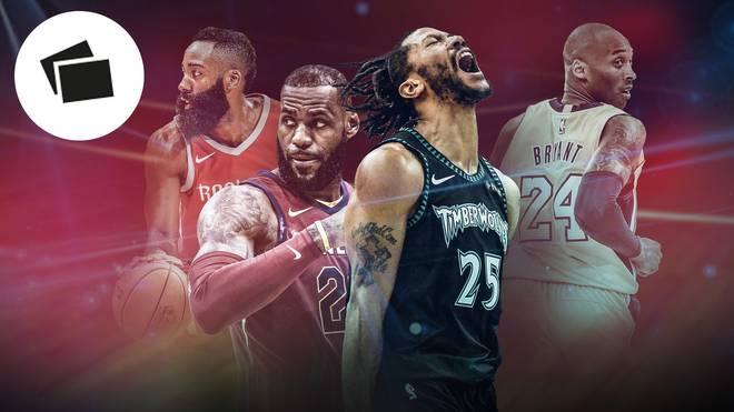 James Harden, LeBron James, Derrick Rose und Kobe Bryant sorgten für furiose Leistungen in der NBA