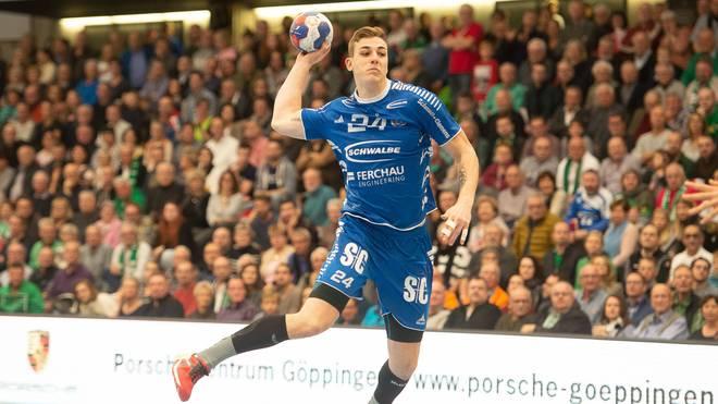 Handball: Luis Villgrattner vom VfL Gummersbach am Knie verletzt, Luis Villgrattner vom VfL Gummersbach fällt monatelang aus