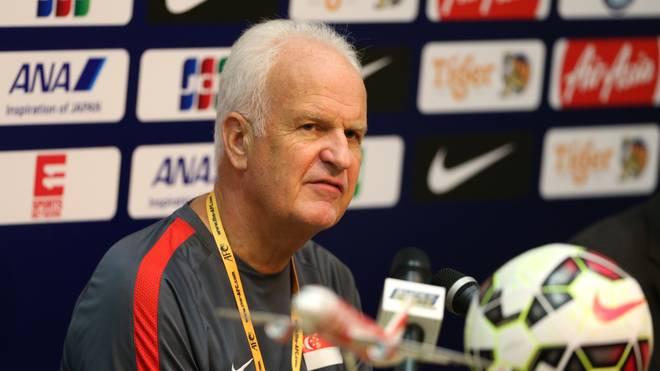 Bernd Stange war zuletzt Nationaltrainer von Singapur