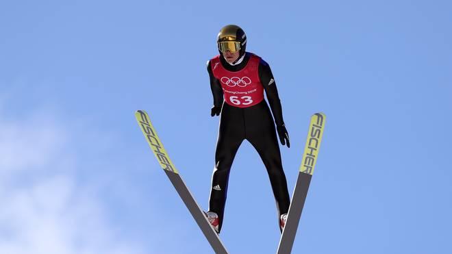 Andreas Wellinger präsentierte sich im Training in Pyeongchang in starker Form