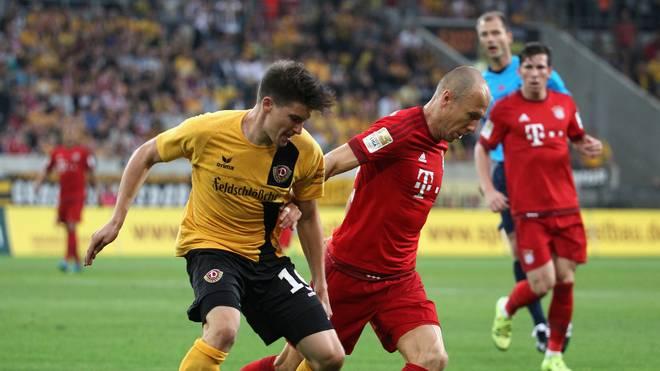 Arjen Robben beim Benefizspiel des FC Bayern bei Dynamo Dresden