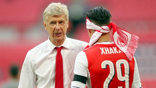 Granit Xhaka (r.) will Arsene Wenger nach dem FA Cup 2017 noch einen weiteren Titel schenken
