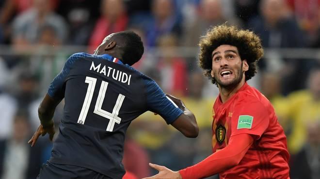 Marouane Fellaini (r.) machte 87 Länderspiele für Belgien