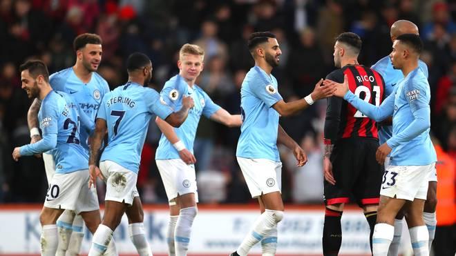 Manchester City steht an der Tabellenspitze der Premier League