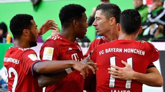 FC Bayern, Serge Gnabry, David Alaba, Robert Lewandowski, James Rodriguez