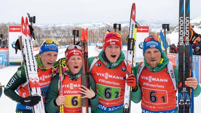 Biathlon-WM 2019 in Östersund: Mixed-Staffel LIVE im TV, Stream, Ticker