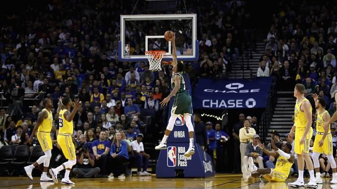 Giannis Antetokounmpo führte die Bucks zum Sieg gegen die Warriors