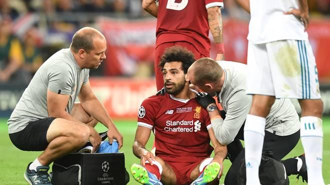 Mohamed Salah verletzte sich im Finale der Champions League