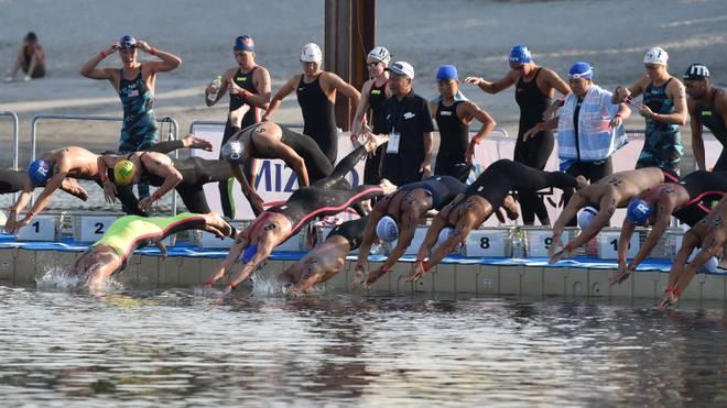 Die Freiwasserschwimmer absolvierten in Tokio einen Test für Olympia 2020