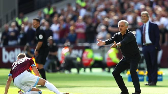 Jose Mourinho kassierte bereits die dritte Saisonniederlage mit Manchester United