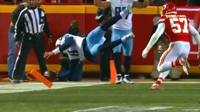 Marcus Mariota von den Tennessee Titans gelang in den NFL-Playoffs gegen die Kansas City Chiefs ein unfassbarer Touchdown