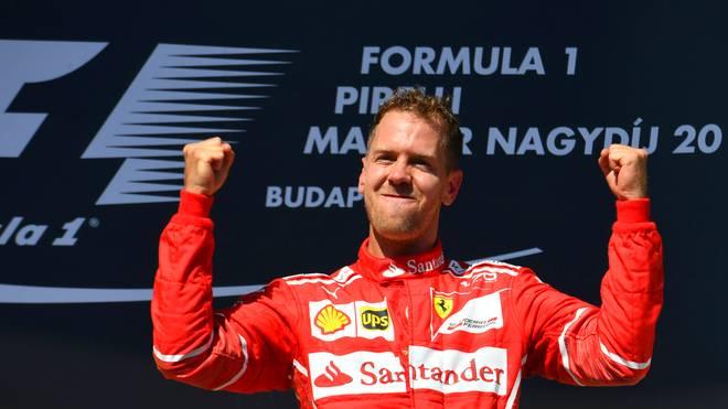 Ferrari-Fahrer Sebastian Vettel führt in der Formel 1 die WM an