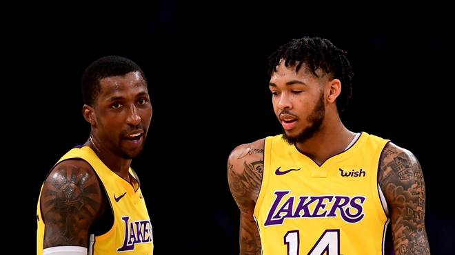 Kentavious Caldwell-Pope (l.), Brandon Ingram und die Los Angeles Lakers treffen auf Minnesota
