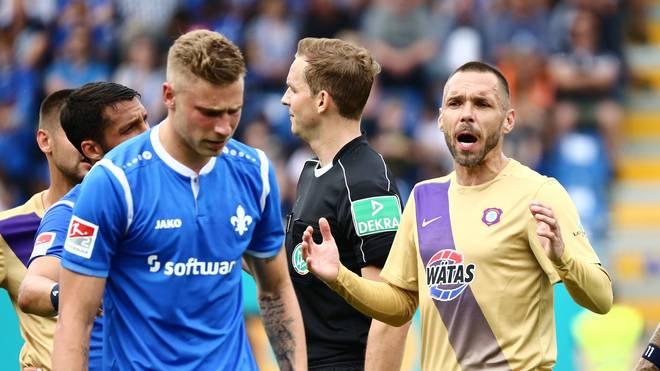 Christian Tiffert beim Spiel in Darmstadt