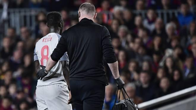 Naby Keita verletzte sich gegen den FC Barcelona an der Leiste