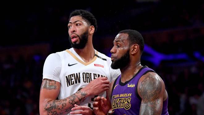 LeBron James (r.) und Anthony Davis spielen beim All-Star Game im selben Team