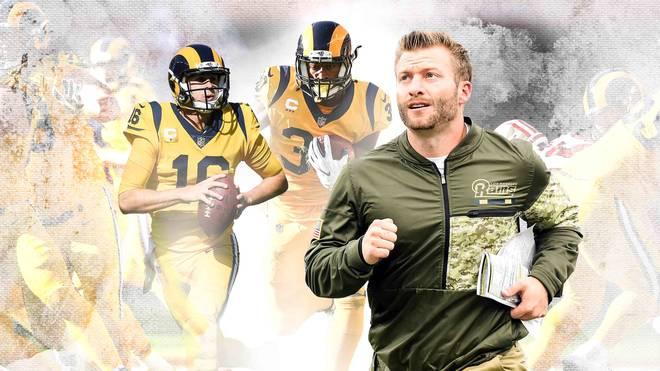Trainer Jean McVay (r.) formte die Los Angeles Rams zum Spitzenteam der NFL