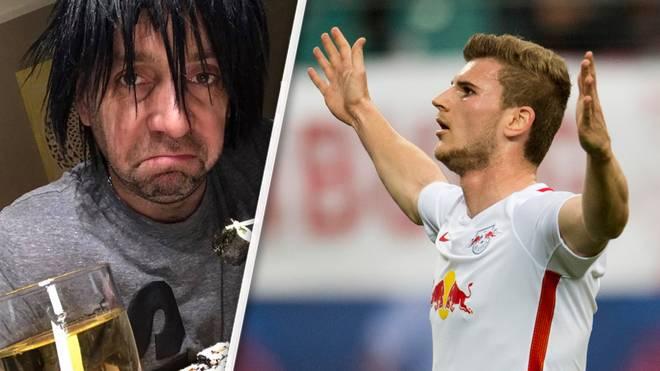 Ballermann-Sänger Ikke Hüftgold (l.) verhöhnt Timo Werner mit einem Mallorca-Song