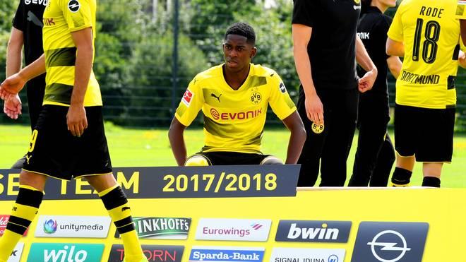 Bei den offiziellen Fotoaufnahmen von Borussia Dortmund war Ousmane Dembele am Mittwoch mit dabei