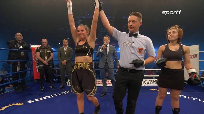 Sophie Alisch gewann ihr Profidebüt in Koblenz durch K.o.