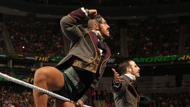 Simon Gotch von den Vaudevillains (l., mit Aiden English) wurde von WWE entlassen