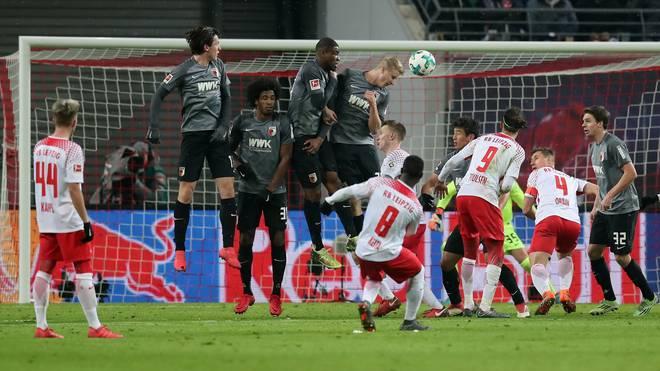 Naby Keita traf mit Glück gegen den FC Augsburg