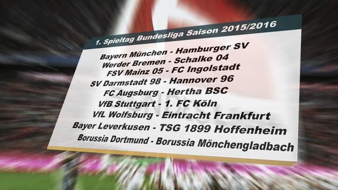Spielplan Der Bundesliga 201516