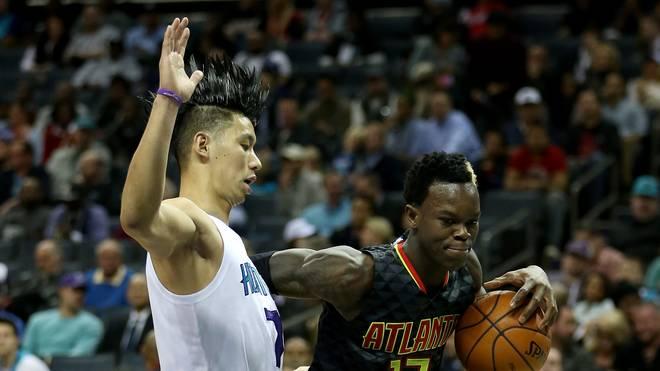 Jeremy Lin (l.) wechselt zu den Atlanta Hawks um Dennis Schröder