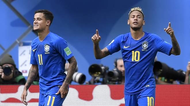 Neymar (r.) und Coutinho sollen es gegen Serbien richten